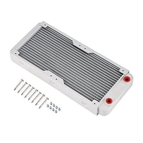 Richer-R Cambiador de Calor Radiador de Enfriamiento,G1 / 4 Tubo de Refrigeración por Agua para PC,Equipos de Belleza,Equipos de Impresión 3D,Purificadores de Aire, LED,etc.(Blanco)(240mm)