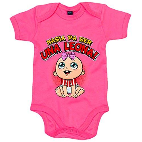 Body bebé nacida para ser una Leona Athletic Bilbao fútbol - Rosa, 6-12 meses
