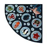 Teppich Paint Viertelkreis G4778 - Ozean...