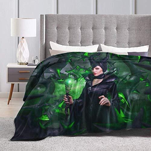 Lsjuee Maleficent Mistress of Evil Supernatural Winter Ultra Soft Micro Flano Mantas de Cama Lujosa y acogedora Manta de Felpa esponjosa Estampada para sillón Sala de Estar 50 'x 40'