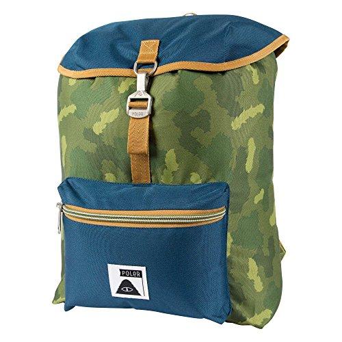 POLER Rucksack Bag Field Pack, Green Camo, 50 x 40 x 6 cm, 14 Liter
