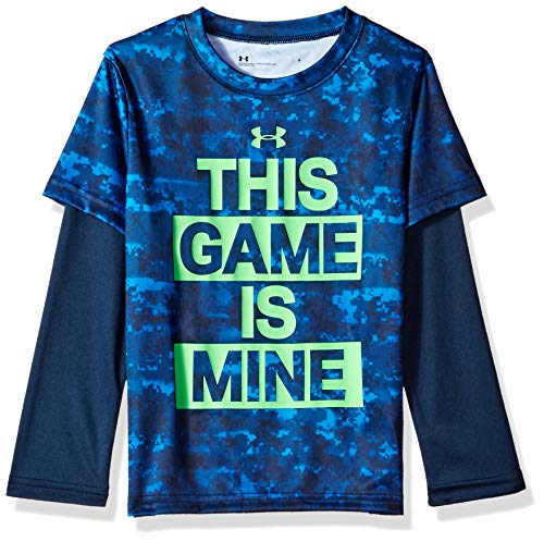 Under Armour långärmad t-shirt för pojkar T Blue Circuit Game 24 månader