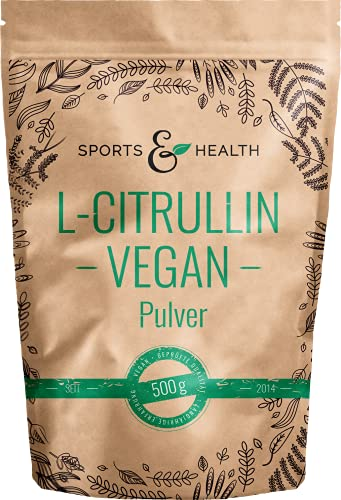 Citrullin Malat Pulver Vegan Als 500g Veganes L-Citrullin Pulver In Einem Perfekten 2:1 Verhältnis Mit Extra Dosierlöffel - Abgefüllt In Deutschland - Vegan