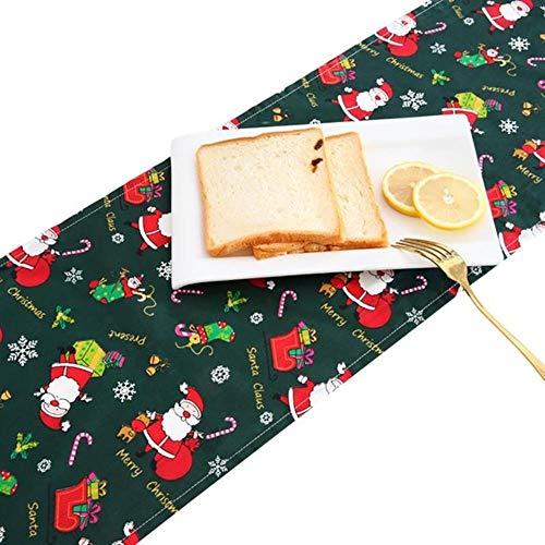 Coner Kerst Tafelloper Decoratief Rechthoekig dressoir Sjaal Kerstdecoratie Eettafel Decor, Groen
