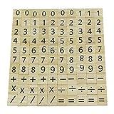 POFET de Madera Número de Madera y Pieza de símbolo Reemplazo 100 Azulejos Juguetes Manualidades y educación Infantil para niños Decoración de la Boda