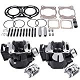 ECCPP New Cylinder Piston Ring Gasket for 1987-2006 Yamaha Banshee350 YFZ 350 Compatible fit for Cylinder Piston Gasket Top End Kit