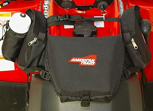 American Trails - ATV Saddle Bag Black - Tank Bag Front Accessories Storage Pack Luggage