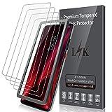 LK [4 Pack Protector de Pantalla para Xiaomi Mi 9T / Mi 9T Pro Cristal Templado, [9H Dureza] [Equipado con Marco de posicionamiento] Vidrio Templado Screen Protector