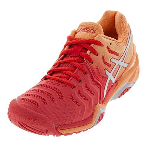 ASICS Women's Gel-Resolution 7 Tennis Shoes, 11M, RED Alert/Silver