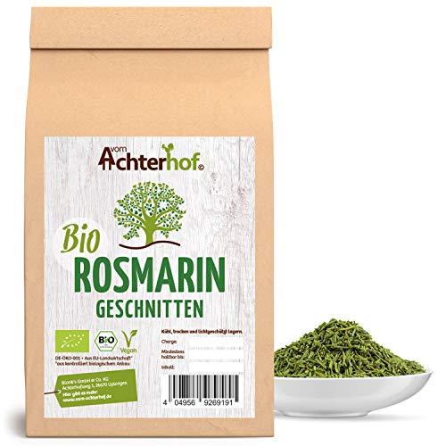 Bio-Rosmarin getrocknet geschnitten (100g) Rosmarin-Tee vom-Achterhof Bio-Gewürze Rosemary Cut Organic