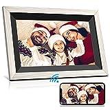 Marco de Fotos Digital WiFi con Pantalla táctil HD IPS de 10.1 Pulgadas con Almacenamiento de 16GB Brillo Configuración fácil para Compartir Fotos o Videos a través de la aplicación Frameo Gratuita
