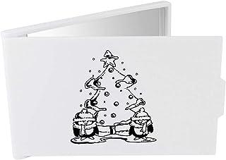 'Christmas Tree & Penguins' Compact / Travel / Pocket Makeup Mirror (CM00024292)