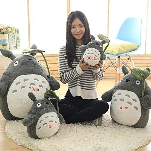 YUEFF Plüsch Figur Totoro Stofftier Cartoon Plüschtier Kuscheltier Für Baby Kinder Mädchen,Weich Plüschtier Anime Kissen, Spielbegleiter Für Kinder,B,30cm