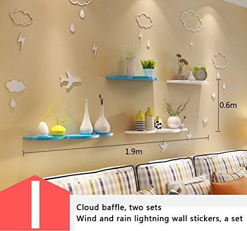 Shelf Wandgestell, Trennwände, Kinderzimmer Wanddekorationen, Wandaufhänger, Kindergarten Wanddekoration (Farbe : I)