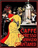 22'x30'Decoration Poster Reproduction Printed on Canvas.Cafe Espresso.Cafeteria.Art Nouveau.8841