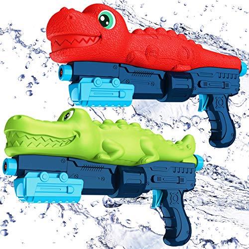 BEQOOL Water Guns for Kids,2 PackSuper Water Blaster Soaker Squirt Guns800CC High CapacitySummer Gifts for Kidsand AdultSwimming Pool Beach Play Toys