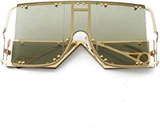 SUNMM - Gafas De Sol De Gran Tamaño Gafas De Sol Vintage para Hombres Gafas De Sol Cuadradas Vintage