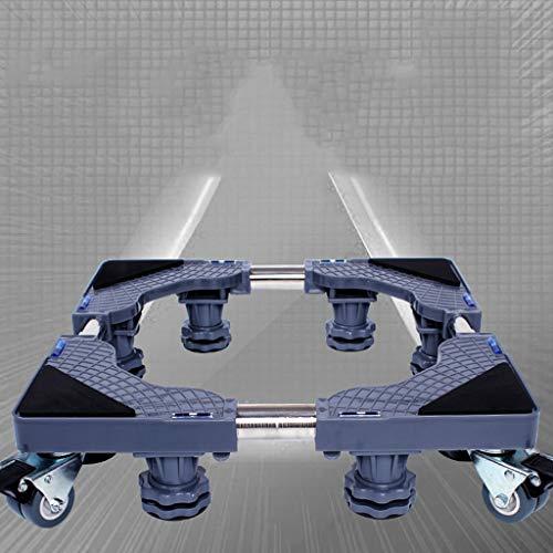 Qivor Muebles Dolly Rodillo Tamaño de Movable Base Ajustable con 4 Ruedas de Bloqueo y 8 pies Fuertes, Base del Pedestal telescópico for Lavado automático Nevera portátil Lavadora Secadora