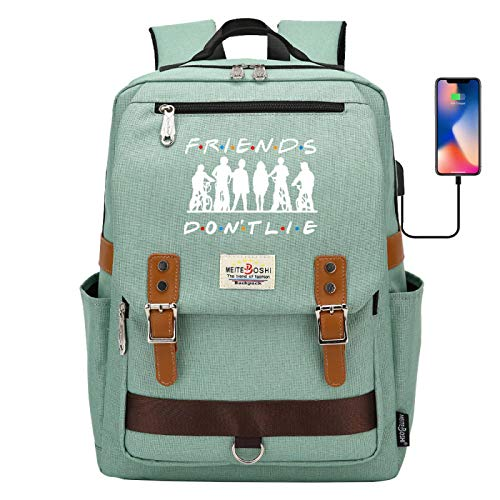 Learning Backpack Children's Lunch Backpack can Hold 15 inch Laptop Outdoor Activity Backpack Large Green