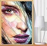 Adouftwo Frauen düstere Augen DIY Diamant Gemälde Stickerei Mosaik Diamanten einfügen Kreuzstich Wandkunst Dekoration Kunsthandwerk
