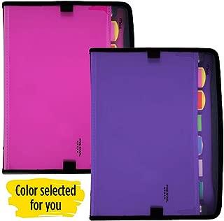 Five Star 扩展文件,7 个口袋可扩展文件夹,可定制,浆果粉/紫色 (38218)