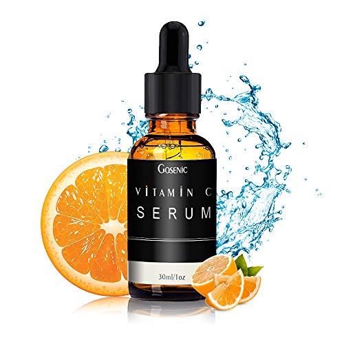 Gosenic Vitamin C Anti-Falten serum für Frauen & Männer -Die neue Antialterung Formel für doppelte Wirkstoffe aus 10% Vitamin C und 5% Beta-Glucan für ein regeneriertes Aussehen der Jugend