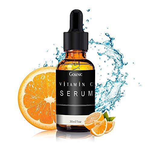 Gosenic Vitamin C Anti-Wrinkle Facial Serum for Men - The 2020 New Anti-Aging Formula - Unique Double Active Ingredients of 10% Vitamin C & 5% Beta Glucan for Regenerated Look of Youth (Vitamin C)