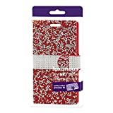 Reiko Wireless Jewelry Rhinestone Wallet Case for Samsung Galaxy On5 - Red