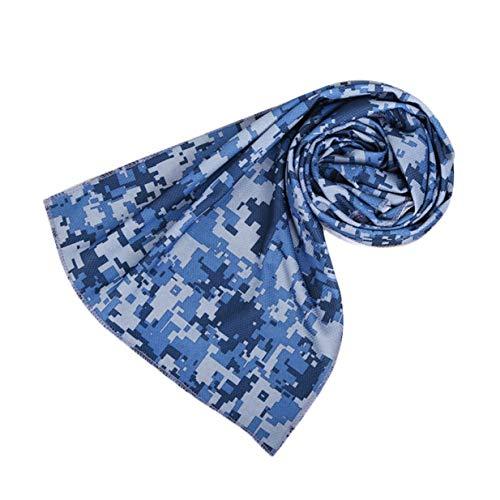 Timetided Práctica Toalla de Hielo 3 Colores de Camuflaje Utilidad Duradera Toalla de enfriamiento instantáneo Alivio del Calor Reutilizable Toalla fría y fría - Azul Oscuro