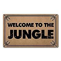 FXGZHAO ウェルカムマット 裏面ゴム付き 長さ30インチ x 幅18インチ ジャングルへようこそ 面白いドアマット 玄関用 個人用マット 滑り止め キッチンラグとマット