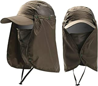 Outdoor UPF 50+ UV Sun Protection Waterproof Breathable Face Neck Flap Cover Folding Sun Hat for Men/Women