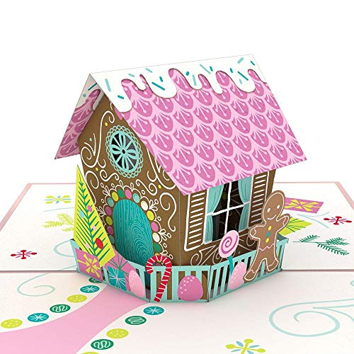 Lovepop Gingerbread House Enhanced Pop-Up 3-D Greeting Card