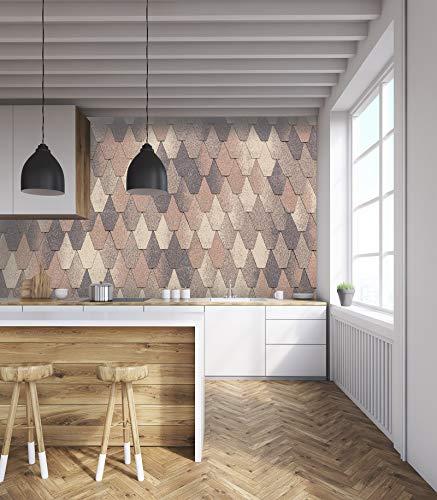 """3D Fischschuppen Mosaik 159 Muster Fliese Marmor Tapeten Drucken Abziehbild Innen Wandgemälde Selbstklebend MXY DE Maze (gewebt Papier (Notwendigkeit Leim), 【205""""x114""""】520x290cm(BxH))"""
