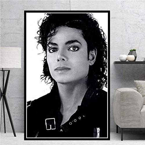 WuChao丶Store Michael Jackson Rip Musician King Star Art Poster Canvas Painting Wall Picture Home Decor Poster e Stampe 50x70 cm (19,68x27,55 in) W-1981