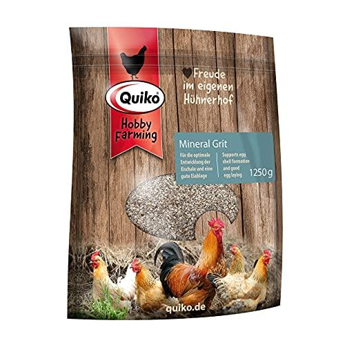 Quiko Hobby Farming Mineralgrit mit Magenkiesel 1.250kg - Für Hühner, Wachteln & Geflügel - Optimale Mineralstoff-Versorgung - Mit extra Magenkiesel für ein gute Verdauung.