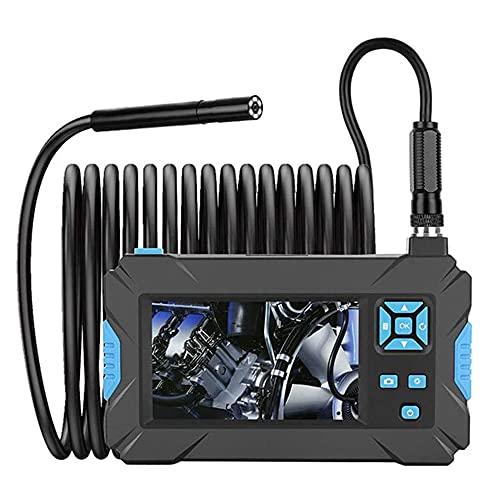1080p Cámara de endoscopio Industrial de 5,5 mm Endoscopio Digital semirrígido con Pantalla LCD de 4.3 Pulgadas y 6 cámaras Impermeables LED,5M