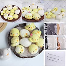 DIY 5 Series Wool Felting Toys Kits Complete Needle Felting Beginner Kits with Basic Felt Tools Handcraft with Instruction Book for Friend Family Gifts. (Yellow)