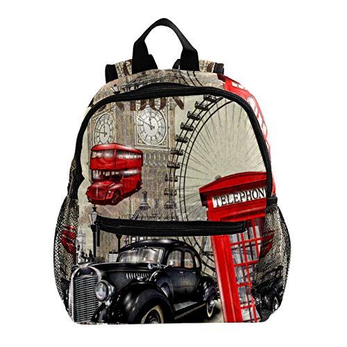 Mochila ligera para la escuela, mochila básica clásica casual para viajar con bolsillos laterales para botellas, caballo en el bosque de la selva con niebla