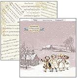 Dayka Trade Papel para scrapbooking, motivo Navidad Niños Vintage, Multicolor, Talla unica