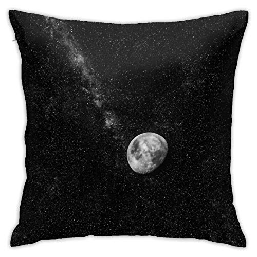 phjyjyeu Funda de cojín con diseño de luna espacial, muy suave y decorativa, 40,6 x 40,6 cm, 40,6 x 40,6 cm
