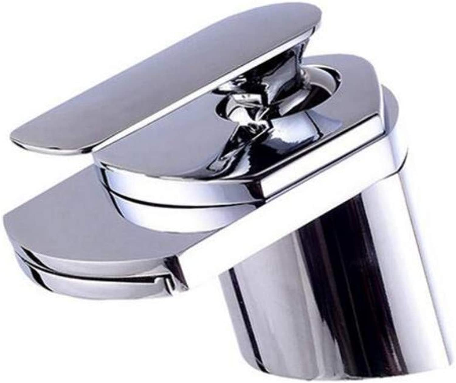 Modern Double Basin Sink Hot and Cold Water Faucet Table Basin Faucet Waterfall Wide-Mouth Faucet