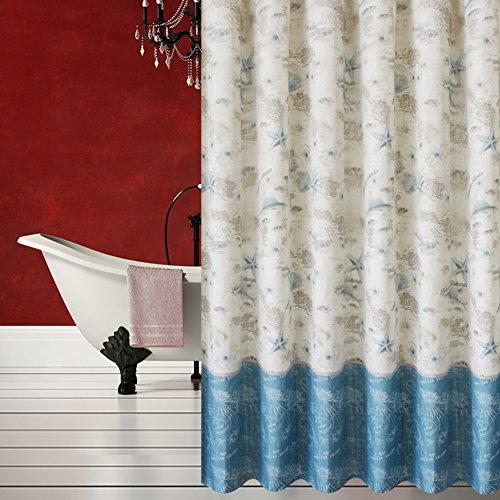 Rideaux de douche Imperméabilisez le rideau de mildiou épaissi Salle de bain cloison douche rideau suspendu-A 300cm*200cm