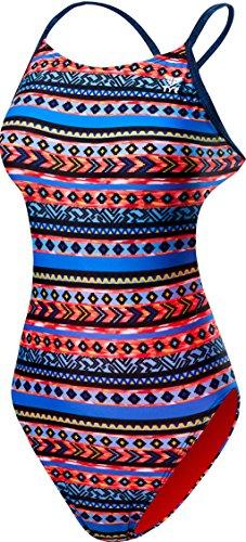 TYR pour Femme Santa Fe Cutoutfit Maillot de Bain, Femme, CSFD7A, Noir/Multicolore, 34