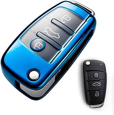 Schlüsselhülle Für Audi Spezielles Weiches Tpu Schlüssel Schutzhülle Kompatibel Mit Audi A3 A1 A3 A6 Q2 Q3 Q7 Tt Tts R8 S3 S6 Rs3 A6l Audi Schlüsselanhänger Hülle Blau Bekleidung