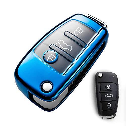 Funda protectora especial para llave de coche para Audi, de TPU suave, compatible con Audi A3, A1, A