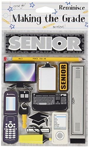 Reminisce Making The Grade 3-Dimensional Senior Sticker
