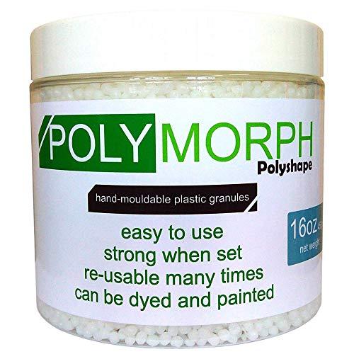 Polyshape Polymorph Hand moldable Plastic 16oz tub [plastimake, thermoplastic]