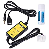 Qiilu Car USB Aux-In Adapter MP3...