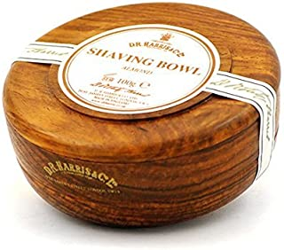 D. R. Harris Almond Shaving Soap in Mahogany Bowl