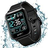 Relógio Smartwatch Inteligente XFTOPSE para Masculino e Feminino com Monitoramento de Oxigenação, ECG e PPG Smart Watch Digital com Pedômetro, 8 Modos Esportivos, IP67 À Prova Dágua (Preto)